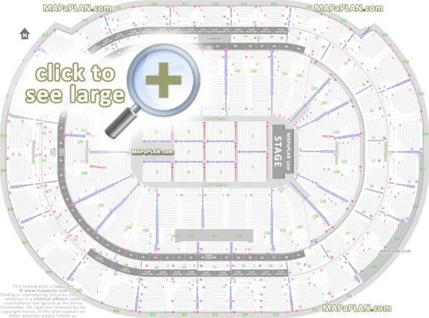 Detailed Seat Row Numbers End Stage Concert Sections Floor Plan Map Arena Plaza Mezzanine Layout Sunrise