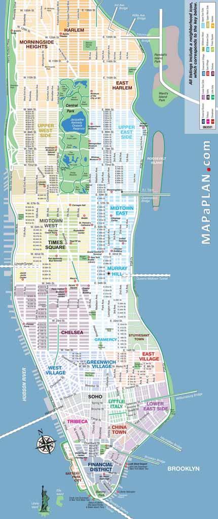Printable Ny Map Manhattan Subway