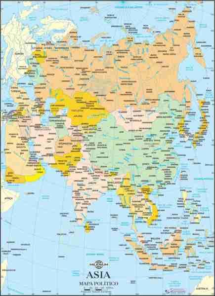 Mapa de Asia Político