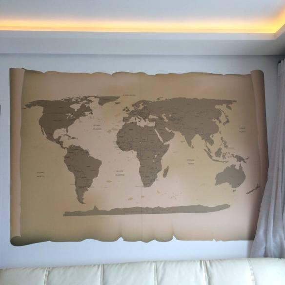 Papel de Parede Mapa Mundi Antigo de frente