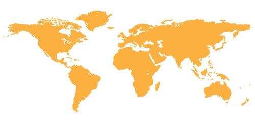 Adesivo mapa mundi papel de parede