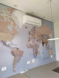 Papel de Parede Mapa Mundi sob medida