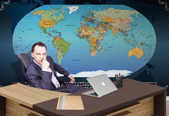 Mapa Mundi na parede
