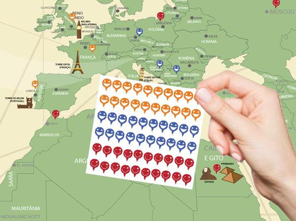 Marcar Viagem Mapa Mundi