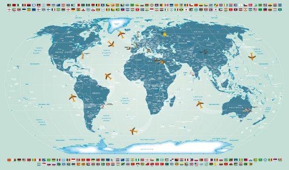 Papel de Parede Mapa Mundi 25 A1