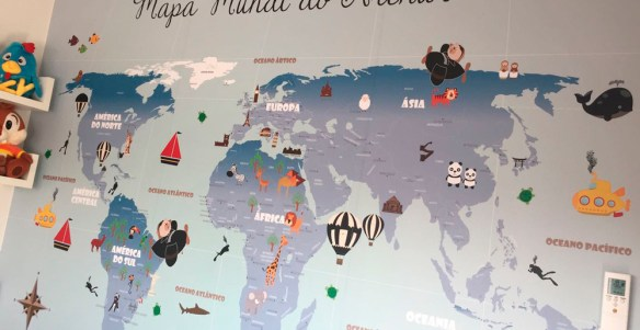 papel de parede mapa mundi infantil 18-G