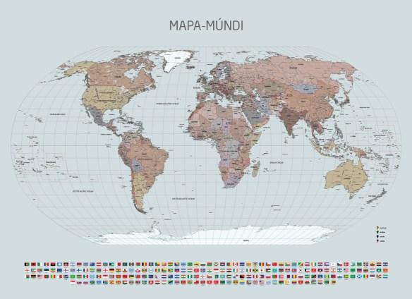 Papel de Parede Mapa Mundi modelo 24-A3