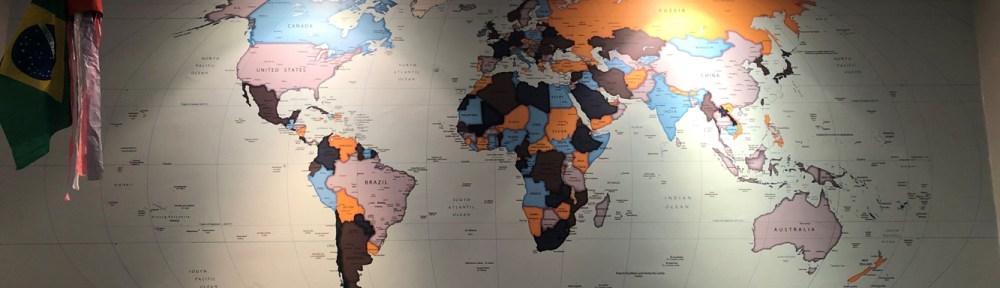 mapa mundi papel de parede decoração modelo 22-A4