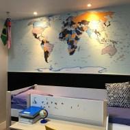 papel de parede mapa mundi decorativo modelo 22-A4 - foto 002