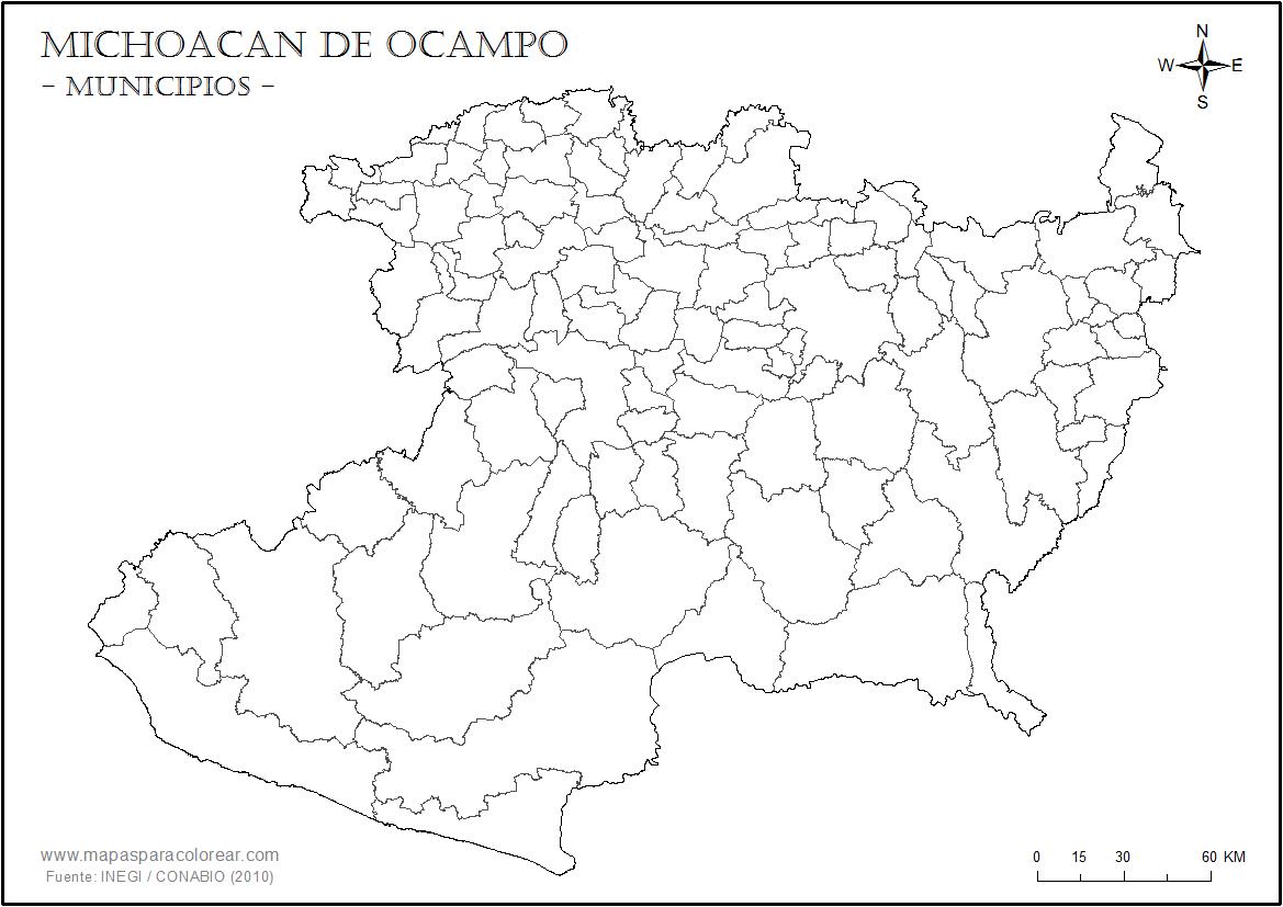 Mapa Municipios De Guanajuato