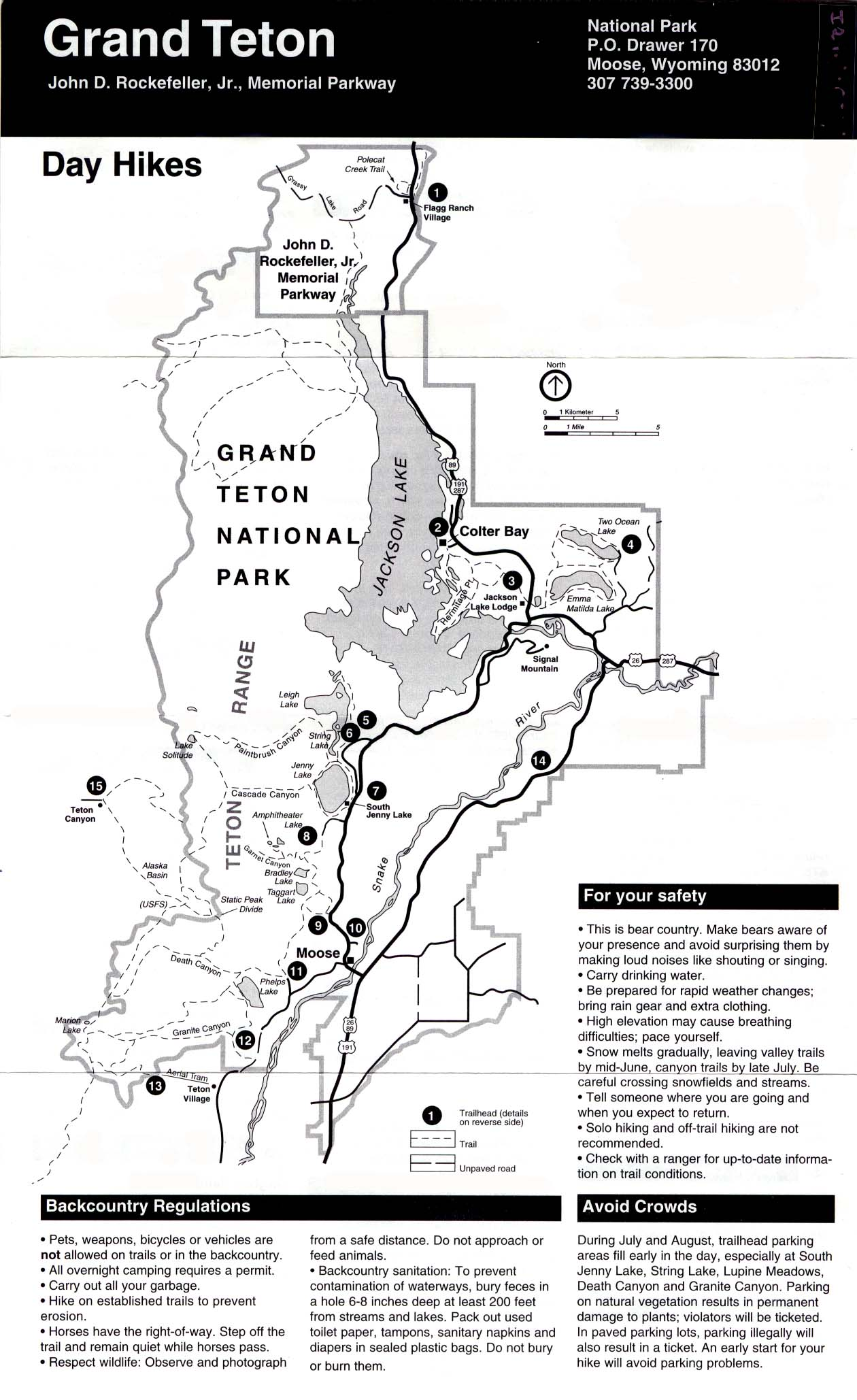 Free Download Wyoming National Park Maps