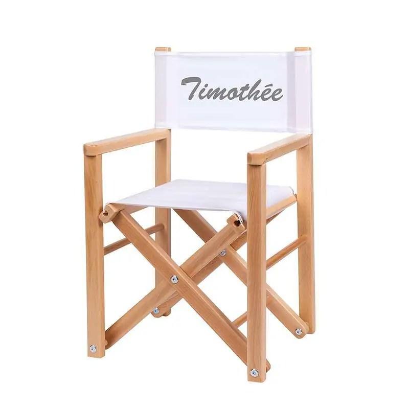 fauteuil realisateur toile unie blanche