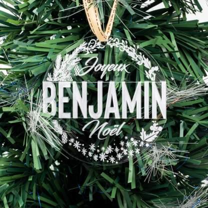 Boule Acrylique Noël prénom
