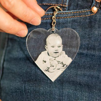 Porte clé acrylique coeur