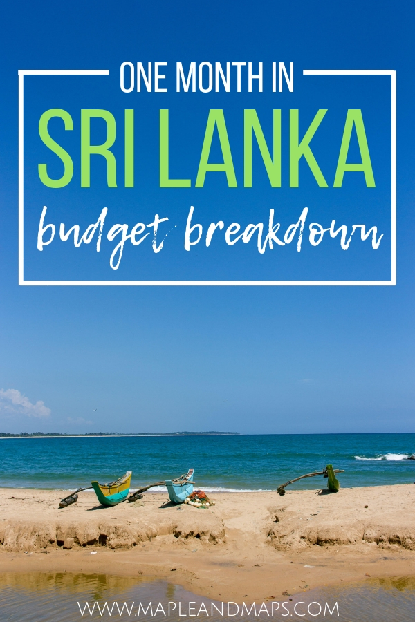 One Month in Sri Lanka Budget Breakdown