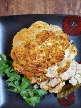 Whole Roasted Cauliflower With Coriander and Mustard #CANRecipe