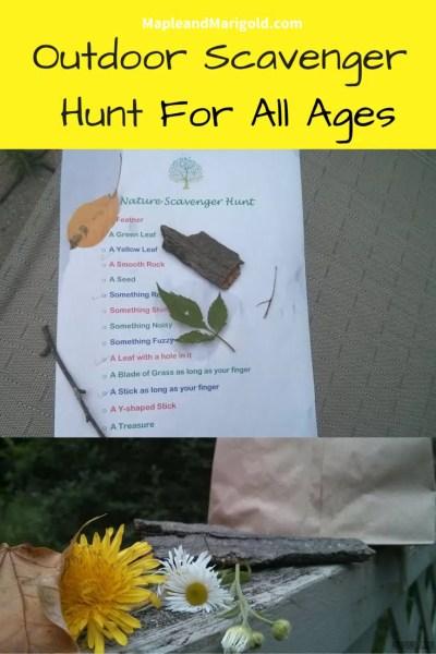 Creating an Outdoor Scavenger Hunt | Keeping kids active | Outdoor Play | Nature Play | Summer Activities