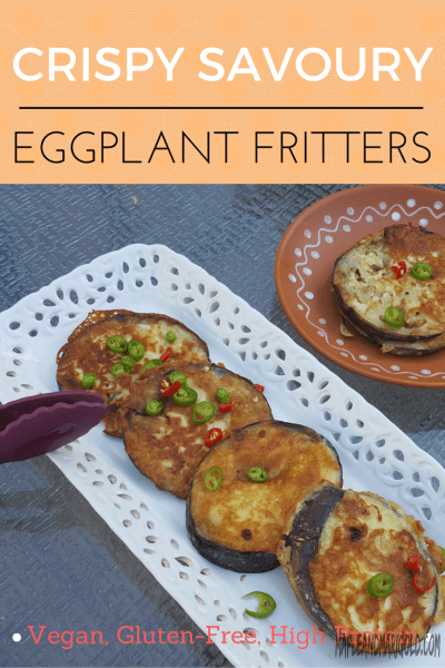 Crispy Indian Eggplant Fritters made with chickpea flour | Vegetarian, Gluten-free, High Protein, Vegan | Side Dishes | Indian Food | MapleandMarigold.com