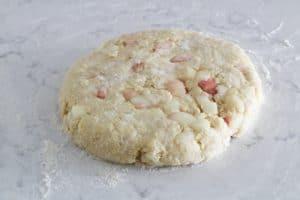 peach scones - disc
