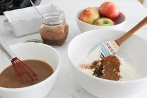 ingredients for apple butter bread
