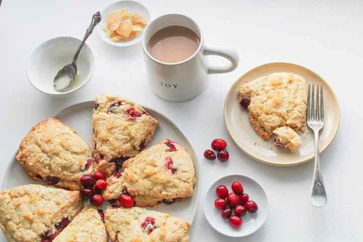 gingerbread cranberry scones from above