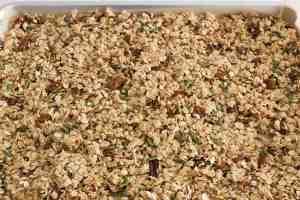 maple pecan granola ready to bake