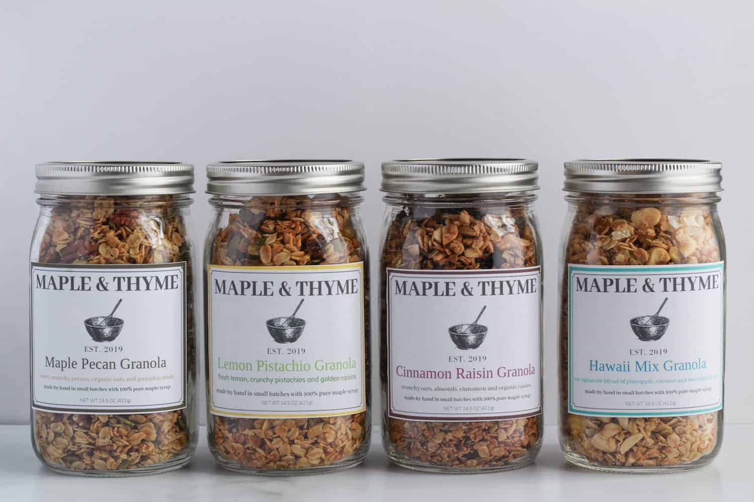 Maple and Thyme Granola Shop Is Open
