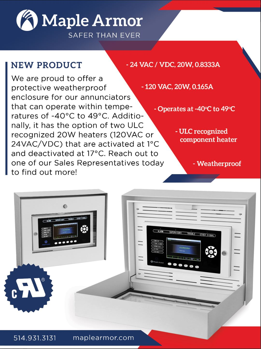 Protective weather proof enclosure for annunciators