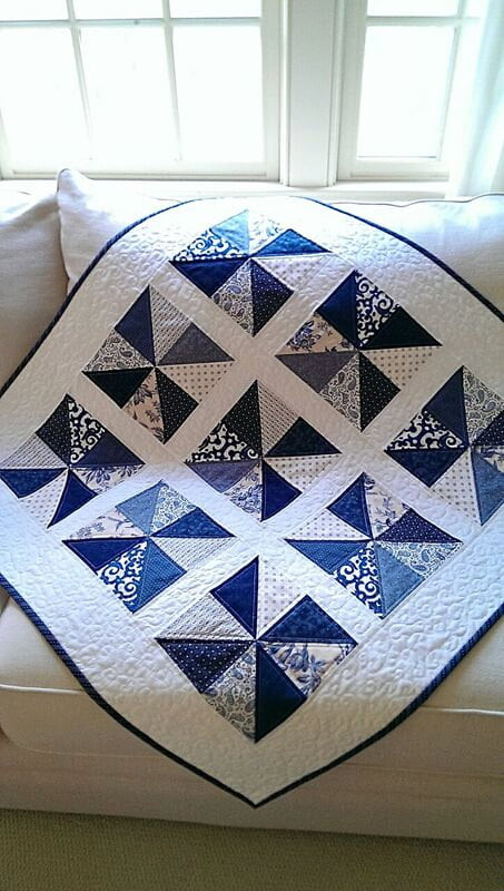 Pinwheels in My Window Quilt Pattern