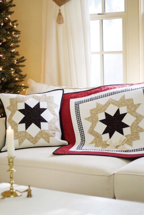 Starlit Wreath Quilt & Pillow Pattern