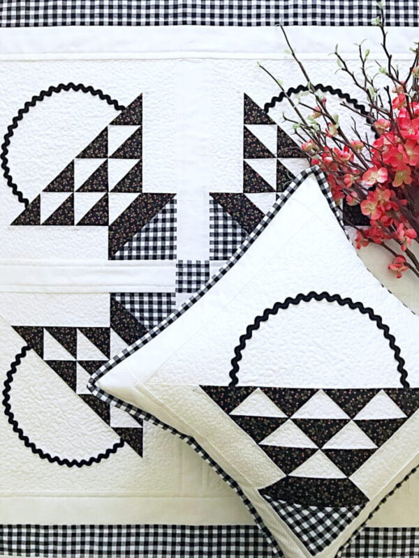Farmhouse Baskets Quilt & Pillow Pattern