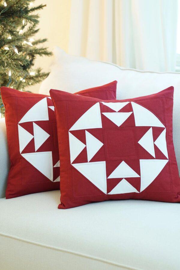 starlit road pillow pattern