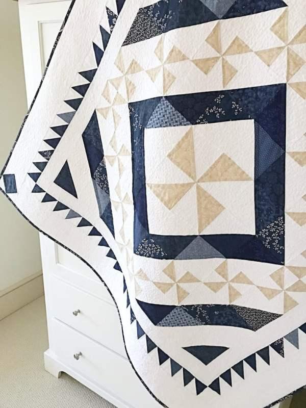 Indigo Snow Quilt Pattern pic 3