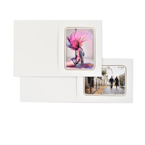 Coniston white slip-in folders