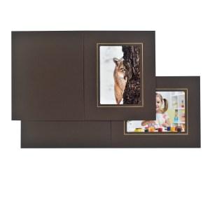 Fairfield brown & gold folders