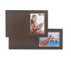 Harewood brown & gold folders