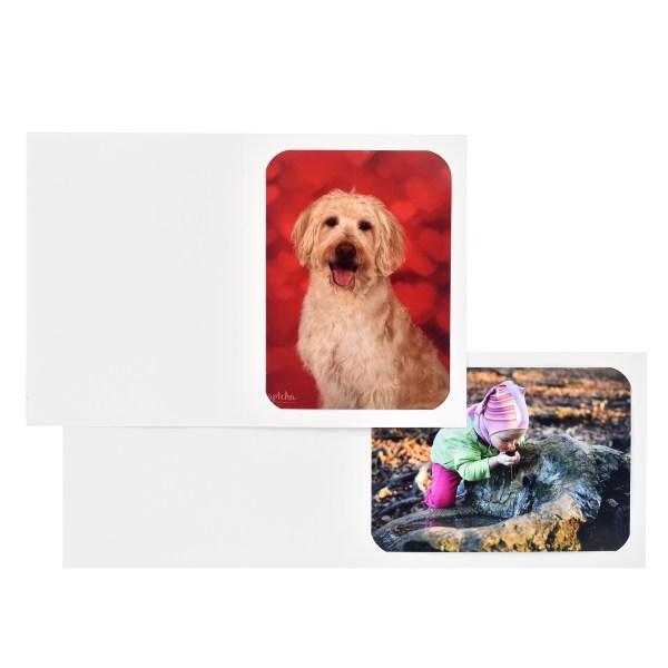 Maple White cut-corner folder