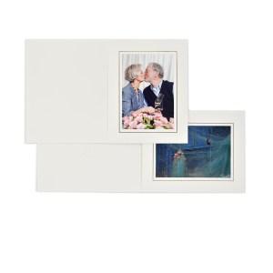 Pearl white slip-in folders