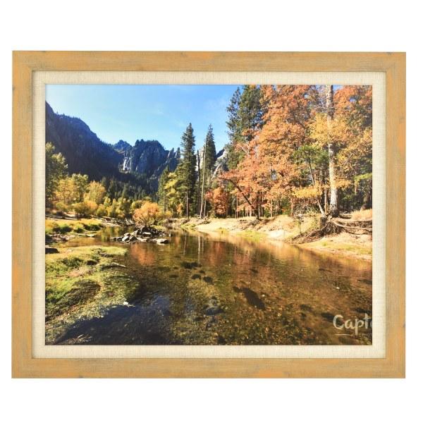 Francesca canvas light wood frame