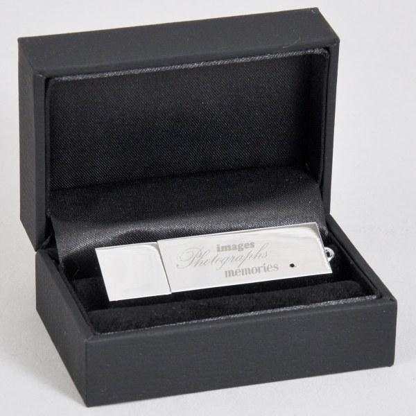 Luxury black presentation box with flash drive