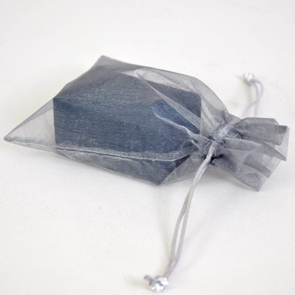 Luxury blue presentation box with organza bag