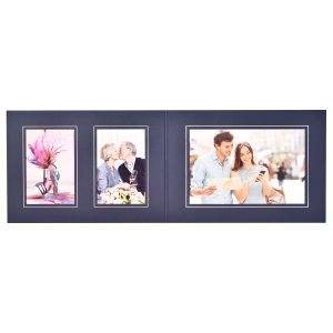 Triple blue & silver folder 6x4 | 6x4 | 9x6