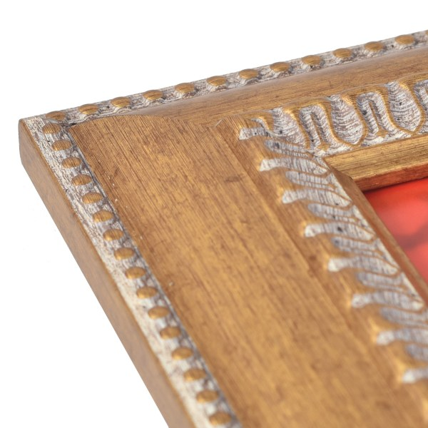 Feodora antique gold frame corner