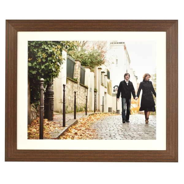 Freestyle dark wood picture frame with mount