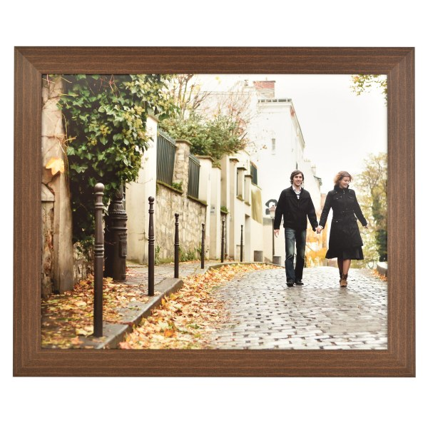 Freestyle dark wood picture frame without mount