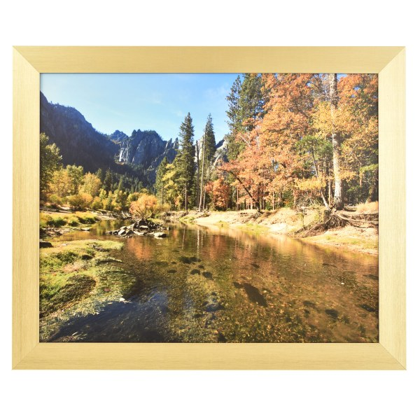 Freestyle light gold picture frame without mount