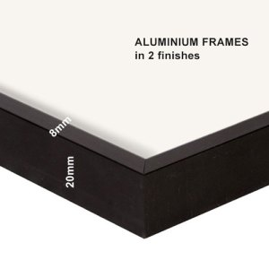 Aluminium frames in 2 finishes