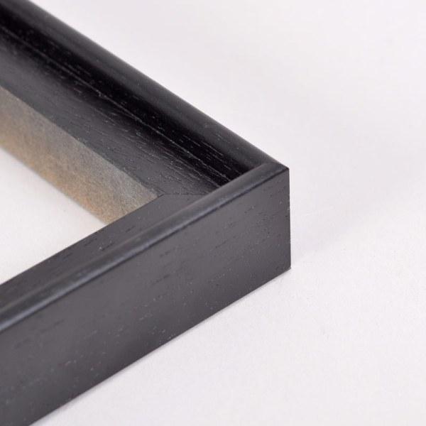 Float frame corner black