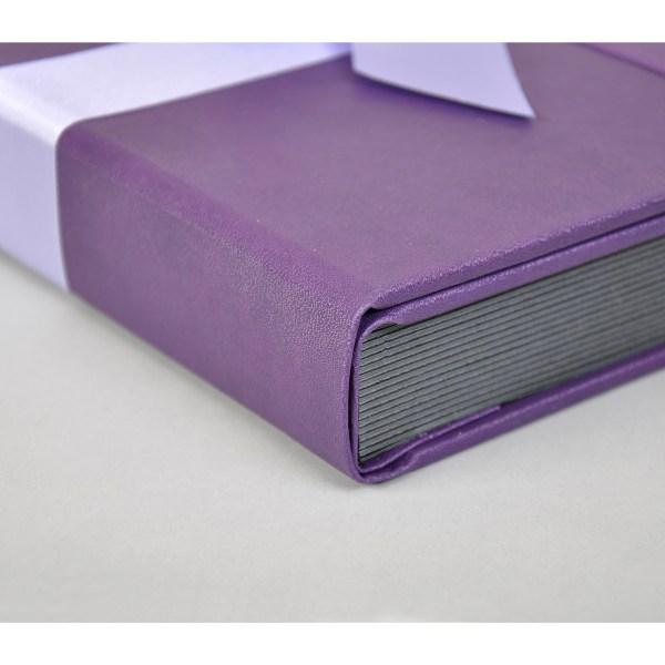Sara Ribbons purple album corner