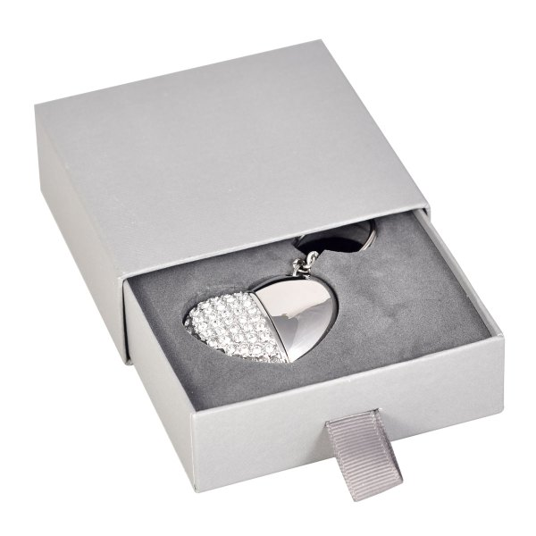Slider flash drive presentation box in grey